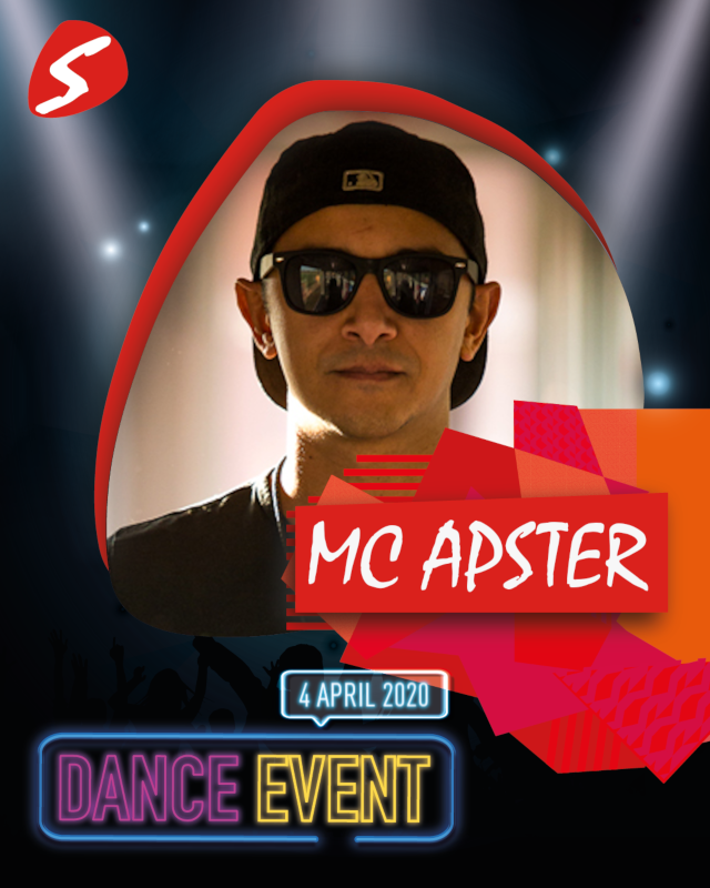 MC Apster 4 april 2020 Dance Event